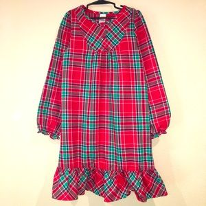 GYMBOREE classic red plaid holiday night gown
